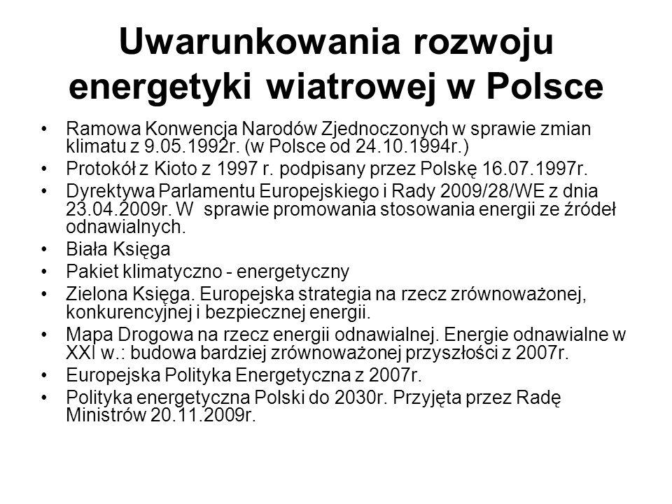 Uwarunkowania rozwoju energetyki wiatrowej w Polsce