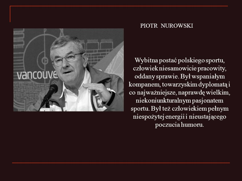 PIOTR NUROWSKI