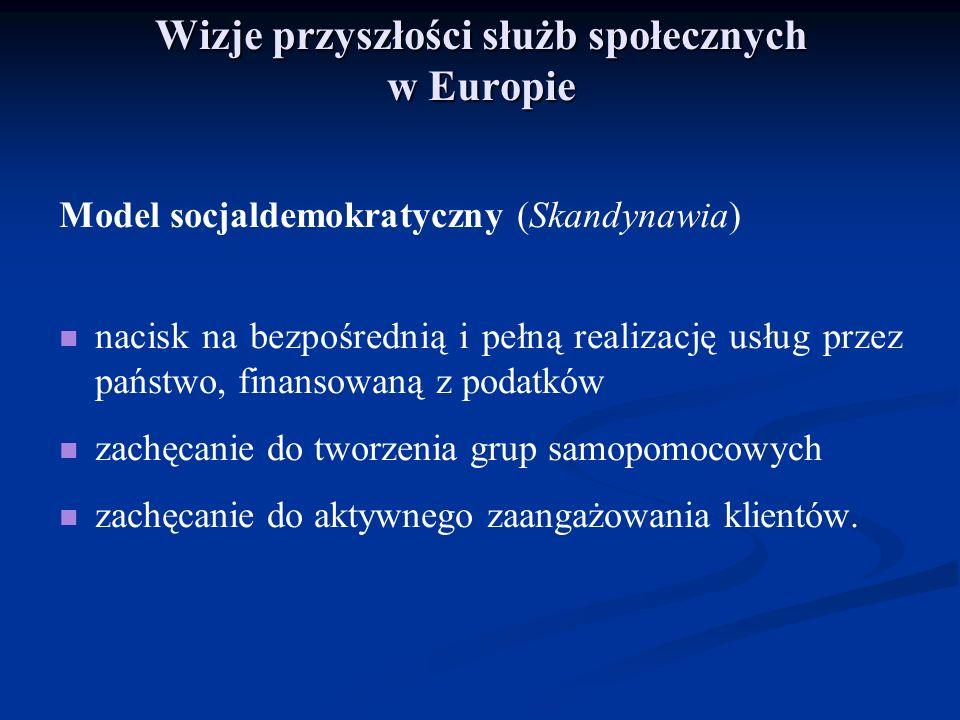 Wizje przyszłości służb społecznych w Europie