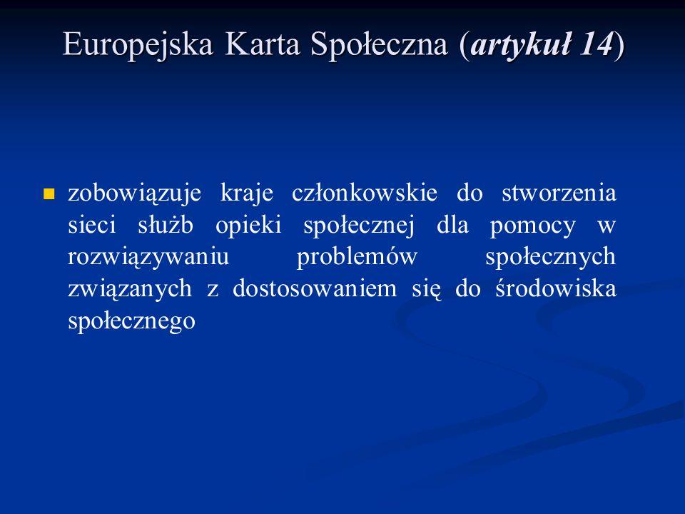 Europejska Karta Społeczna (artykuł 14)