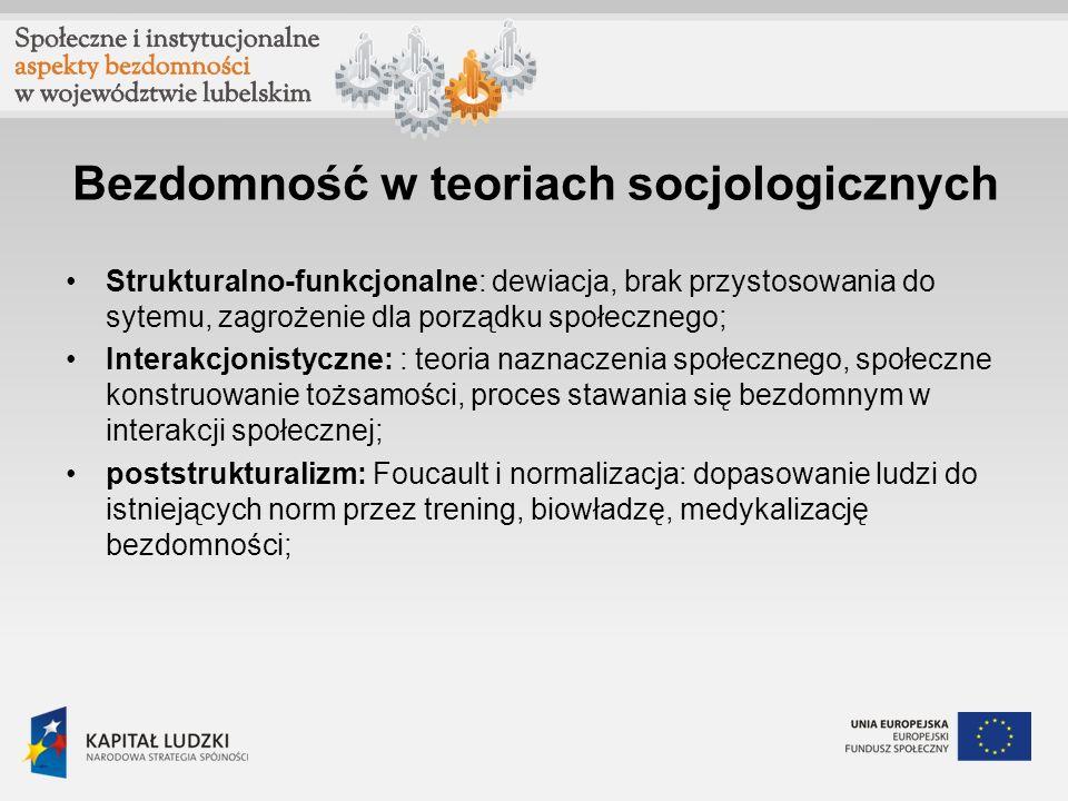 Bezdomność w teoriach socjologicznych
