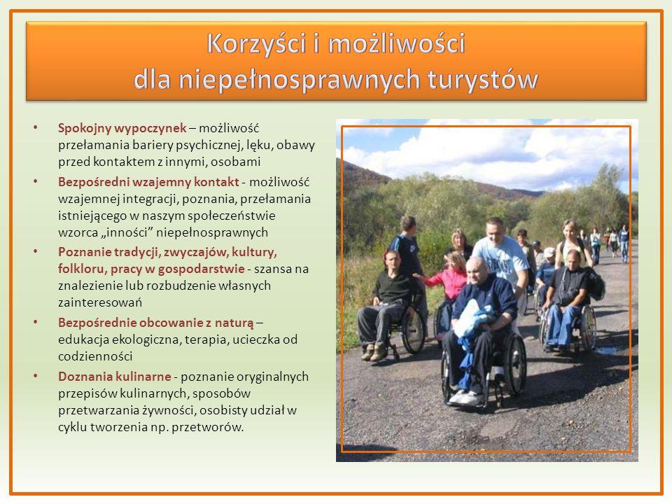 dla niepełnosprawnych turystów