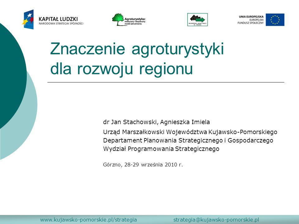 Znaczenie agroturystyki dla rozwoju regionu