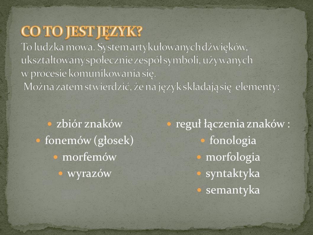reguł łączenia znaków :