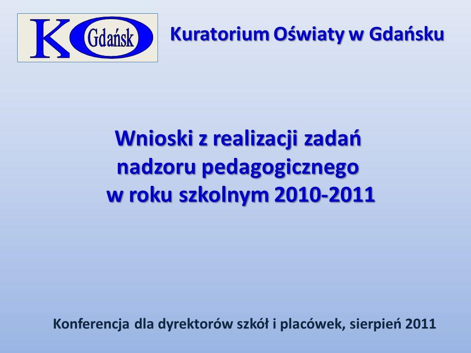 Wnioski z realizacji zadań nadzoru pedagogicznego