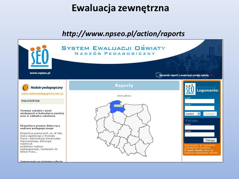 Ewaluacja zewnętrzna http://www.npseo.pl/action/raports