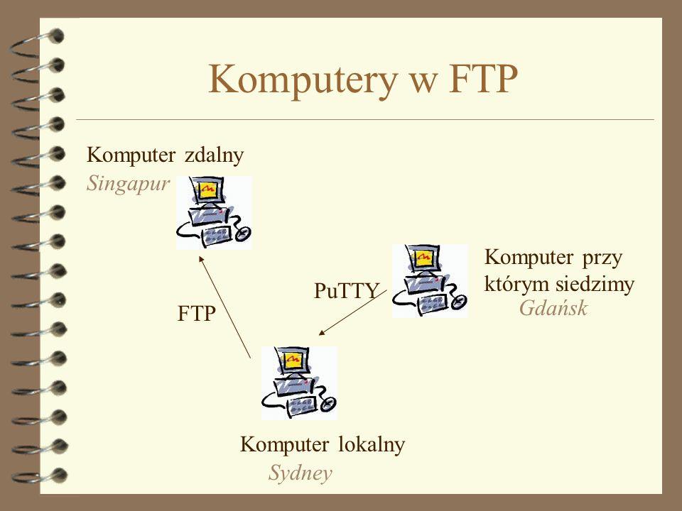 Komputery w FTP Komputer zdalny Singapur Komputer przy którym siedzimy