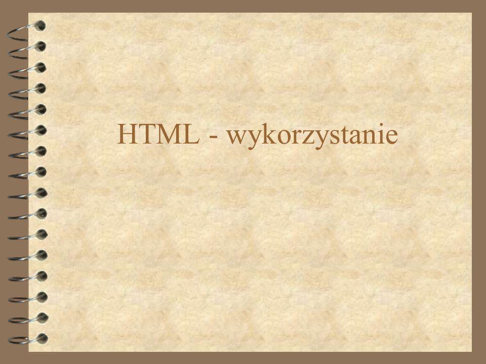 HTML - wykorzystanie