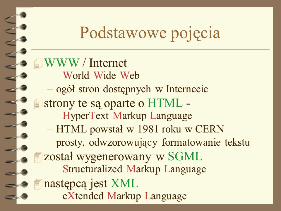 Podstawowe pojęcia WWW / Internet World Wide Web