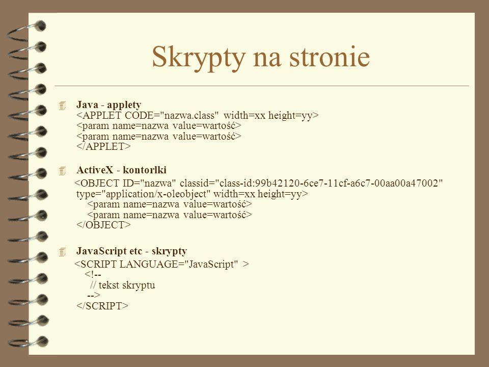 Skrypty na stronie