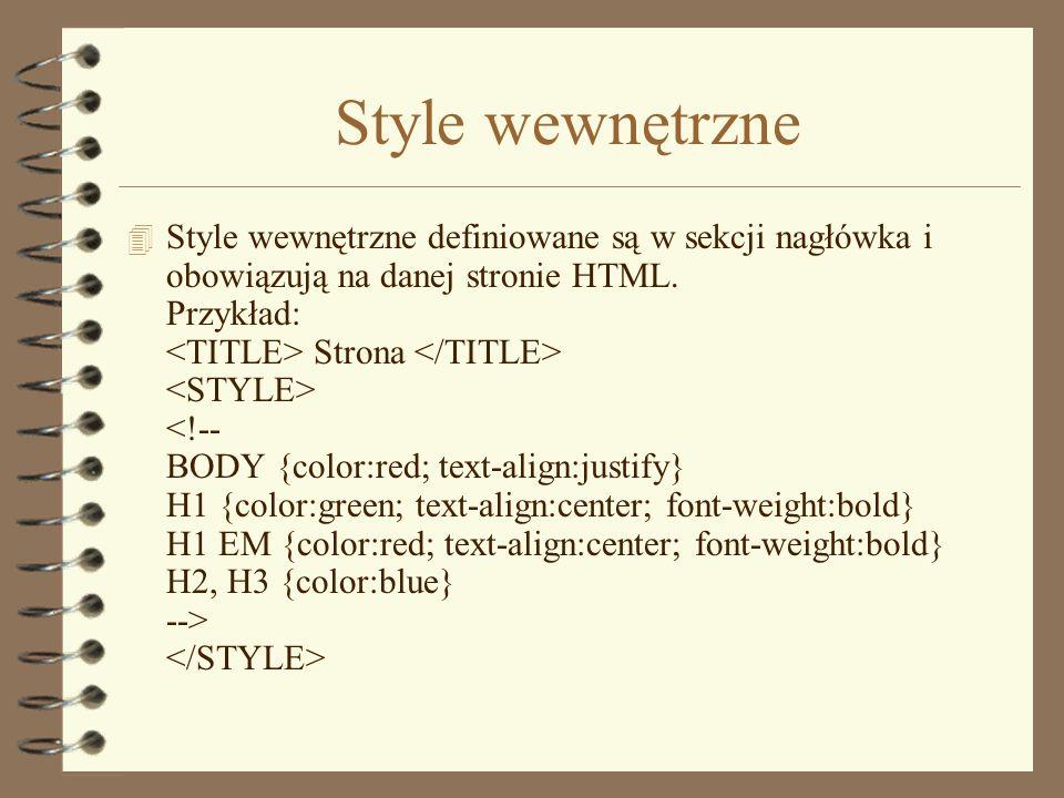 Style wewnętrzne