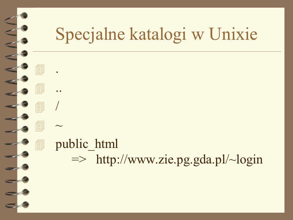 Specjalne katalogi w Unixie
