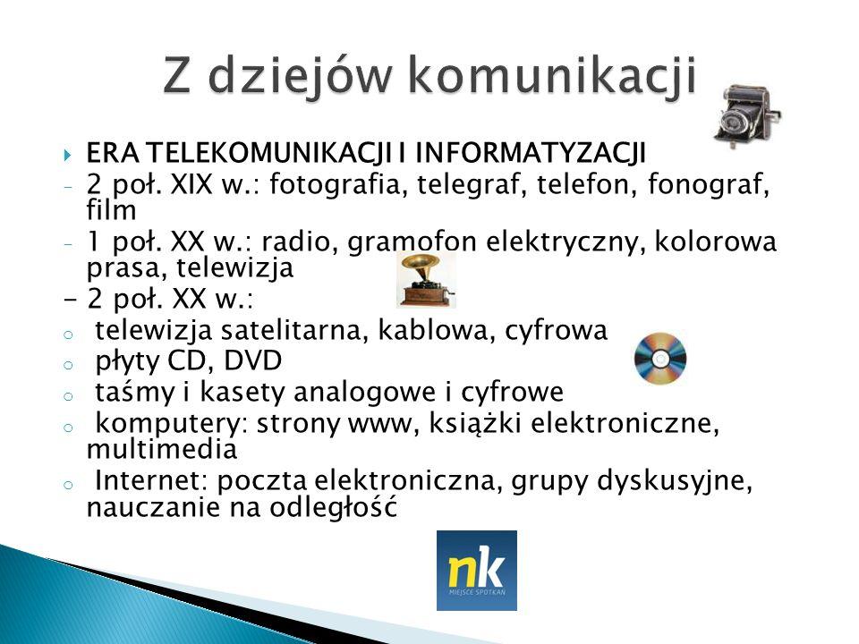 Z dziejów komunikacji ERA TELEKOMUNIKACJI I INFORMATYZACJI