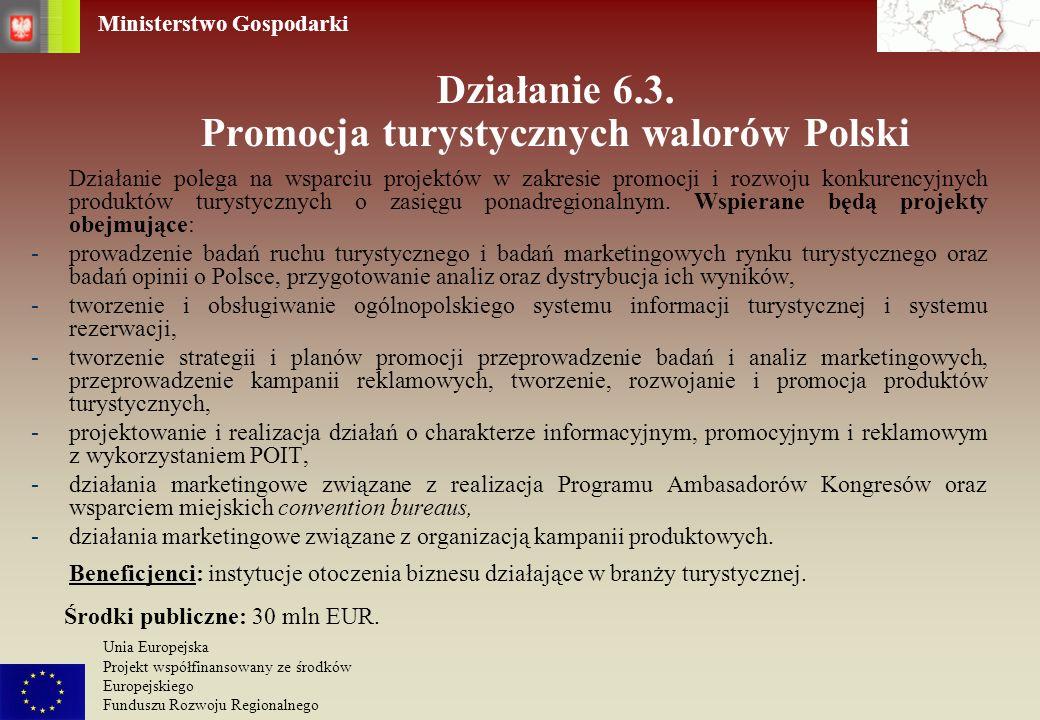 Działanie 6.3. Promocja turystycznych walorów Polski