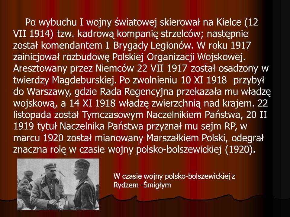 Po wybuchu I wojny światowej skierował na Kielce (12 VII 1914) tzw