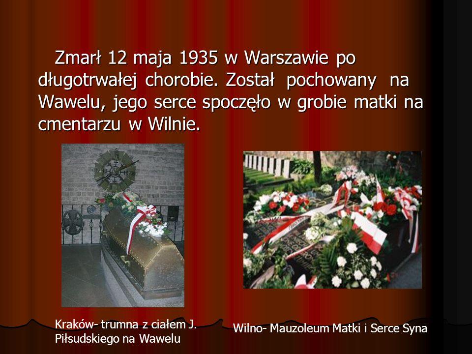 Zmarł 12 maja 1935 w Warszawie po długotrwałej chorobie