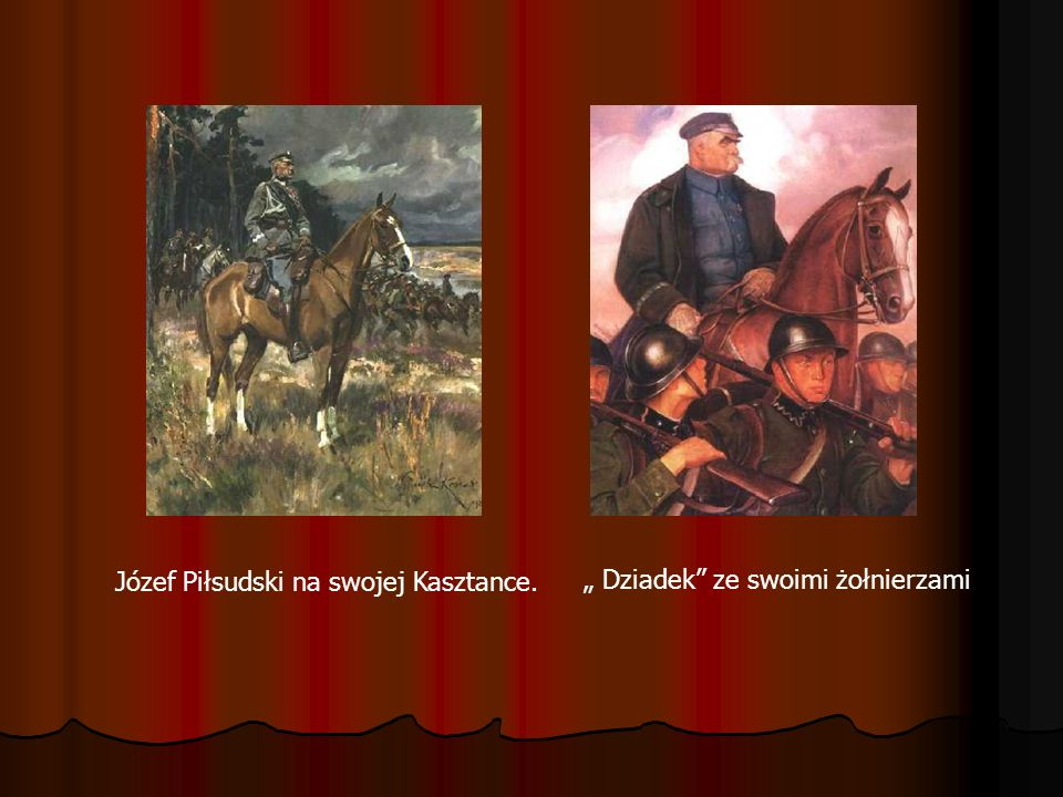 Józef Piłsudski na swojej Kasztance.