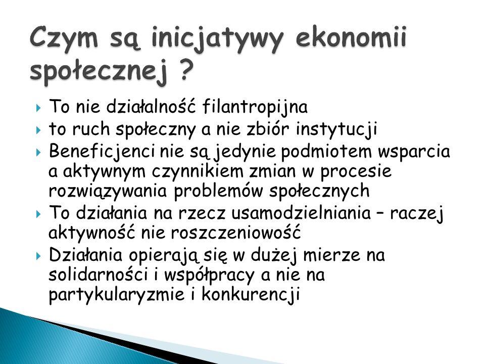 Czym są inicjatywy ekonomii społecznej