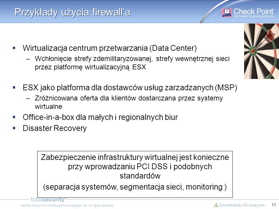 Przykłady użycia firewall'a