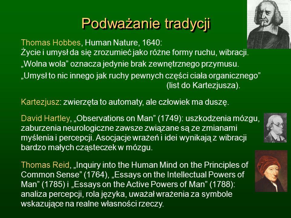Podważanie tradycjiThomas Hobbes, Human Nature, 1640: Życie i umysł da się zrozumieć jako różne formy ruchu, wibracji.