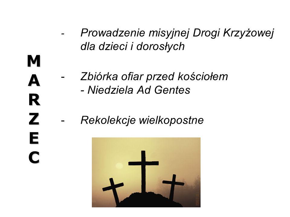 M A R Z E C Zbiórka ofiar przed kościołem - Niedziela Ad Gentes