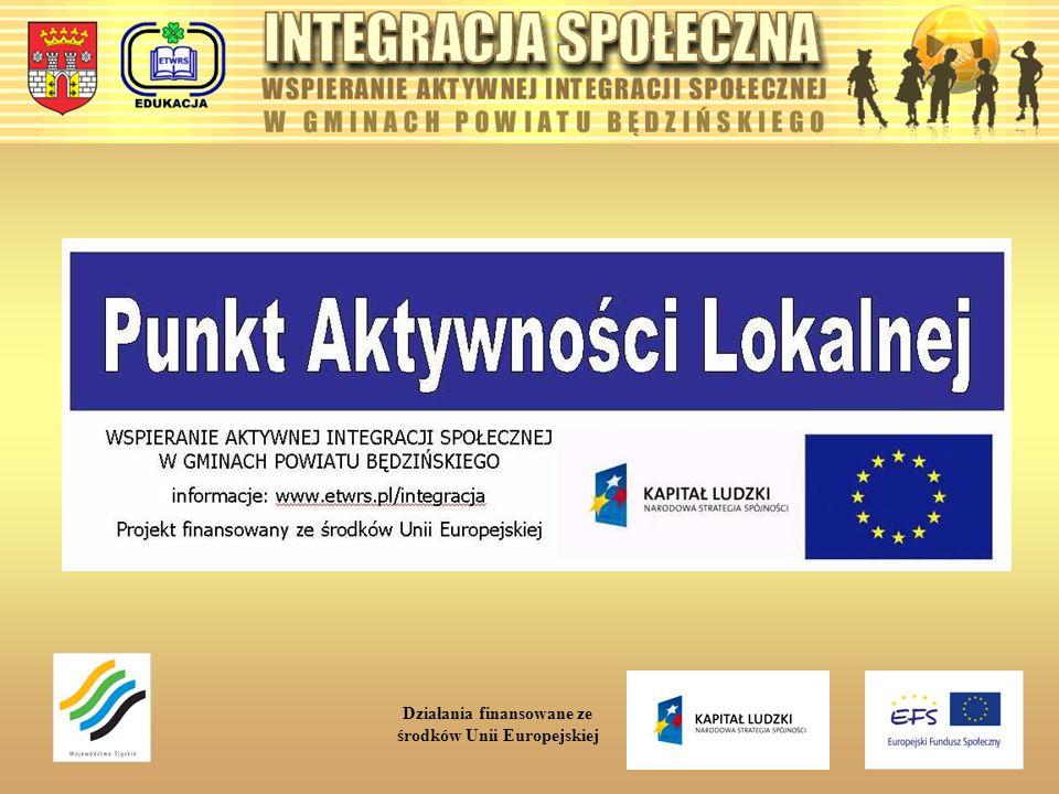 Działania finansowane ze środków Unii Europejskiej