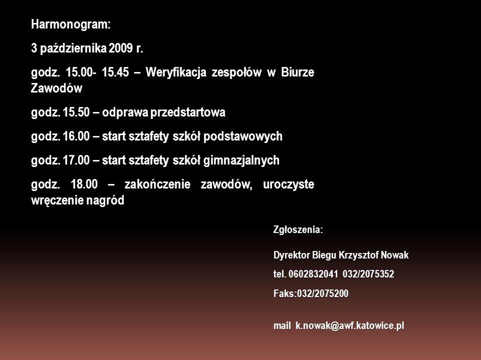 godz. 15.00- 15.45 – Weryfikacja zespołów w Biurze Zawodów