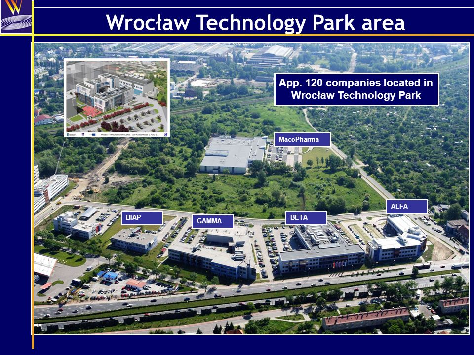 Wrocław Technology Park area