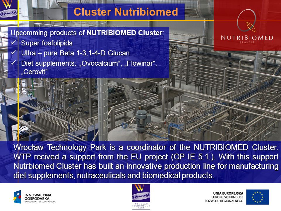 Cluster Nutribiomed Upcomming products of NUTRIBIOMED Cluster: Super fosfolipids. Ultra – pure Beta 1-3,1-4-D Glucan.