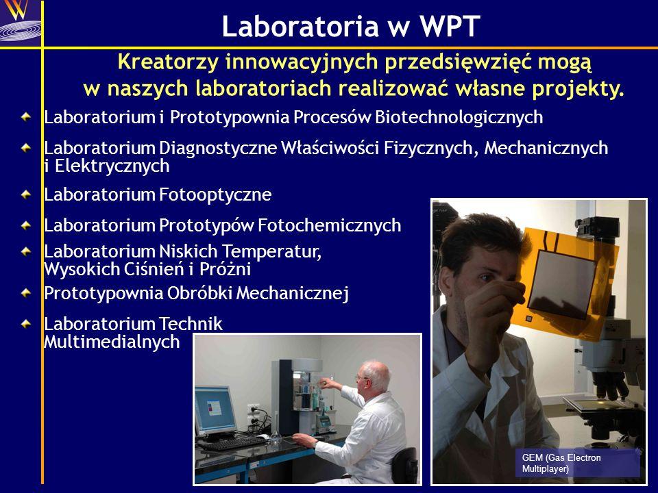 Laboratoria w WPT Kreatorzy innowacyjnych przedsięwzięć mogą