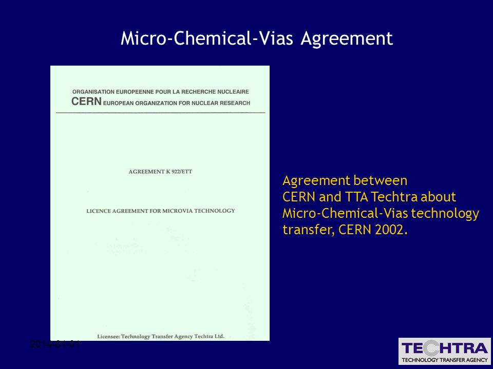 Micro-Chemical-Vias Agreement
