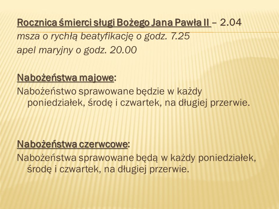 Rocznica śmierci sługi Bożego Jana Pawła II – 2.04