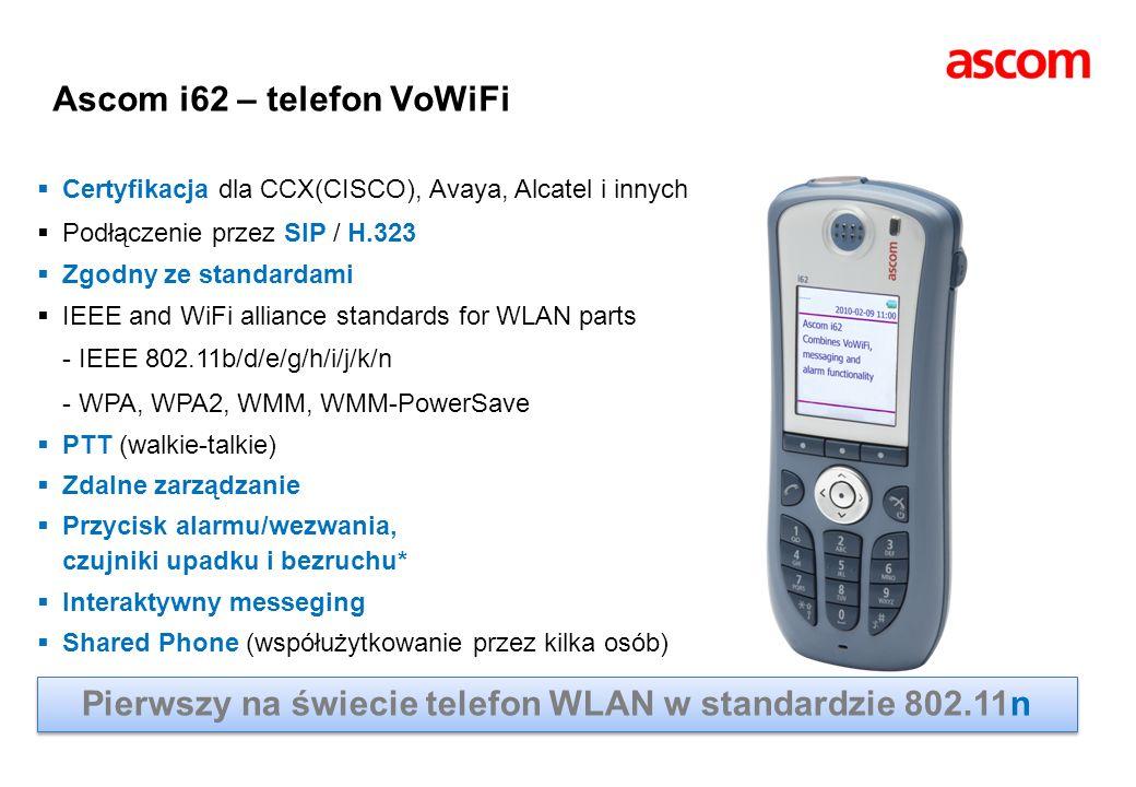 Ascom i62 – telefon VoWiFi