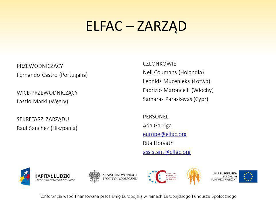 ELFAC – ZARZĄD PRZEWODNICZĄCY CZŁONKOWIE Fernando Castro (Portugalia)