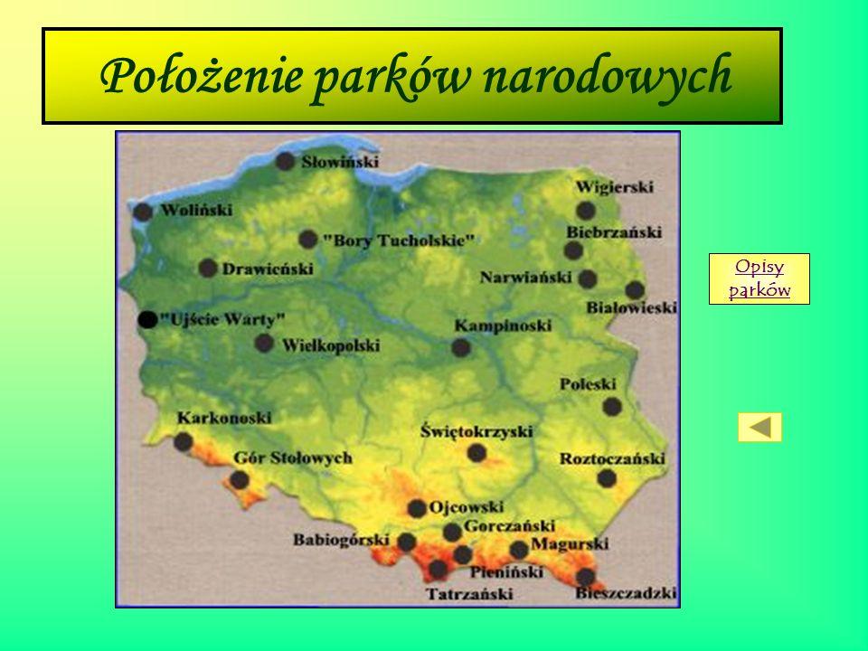 Położenie parków narodowych