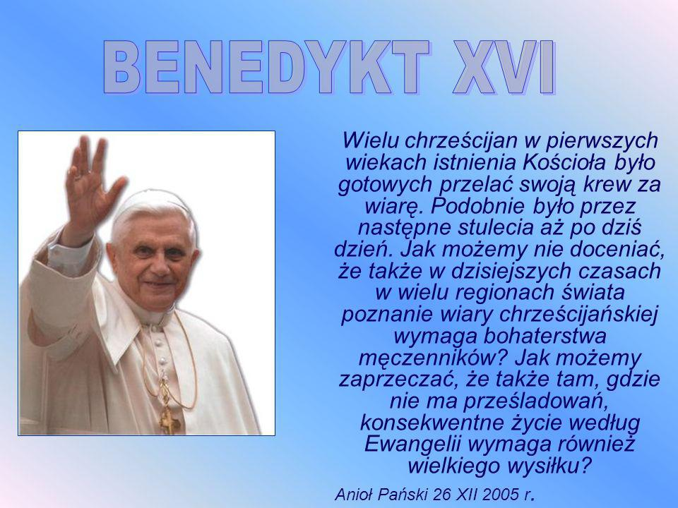 BENEDYKT XVI Anioł Pański 26 XII 2005 r.
