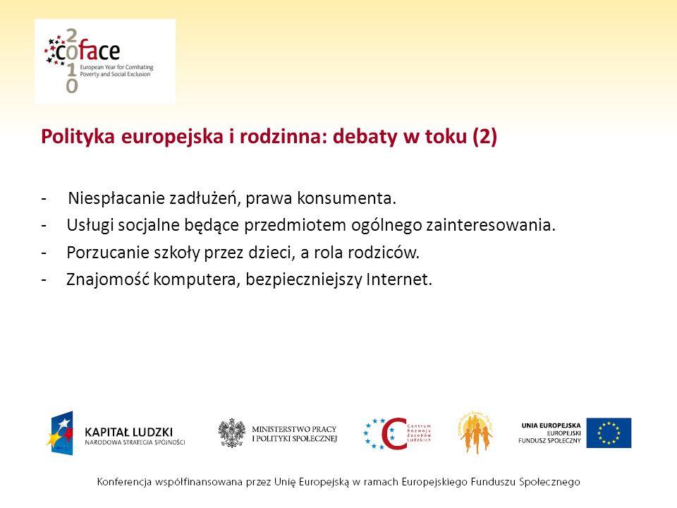 Polityka europejska i rodzinna: debaty w toku (2)