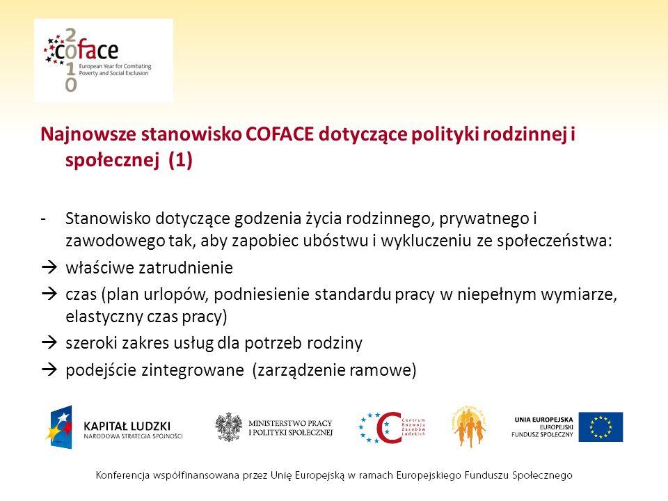 Najnowsze stanowisko COFACE dotyczące polityki rodzinnej i społecznej (1)