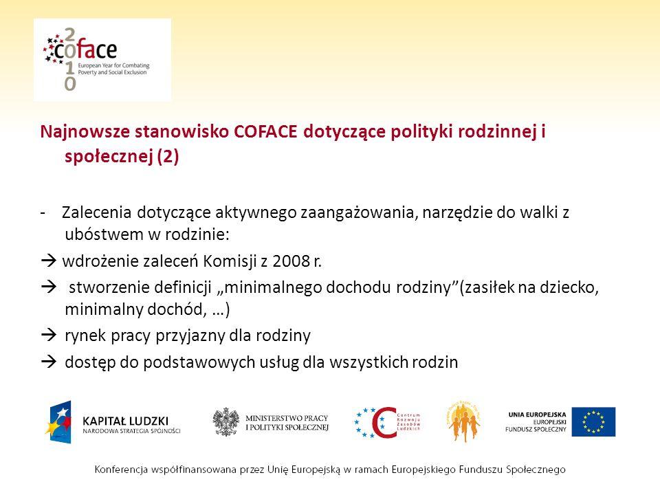 Najnowsze stanowisko COFACE dotyczące polityki rodzinnej i społecznej (2)