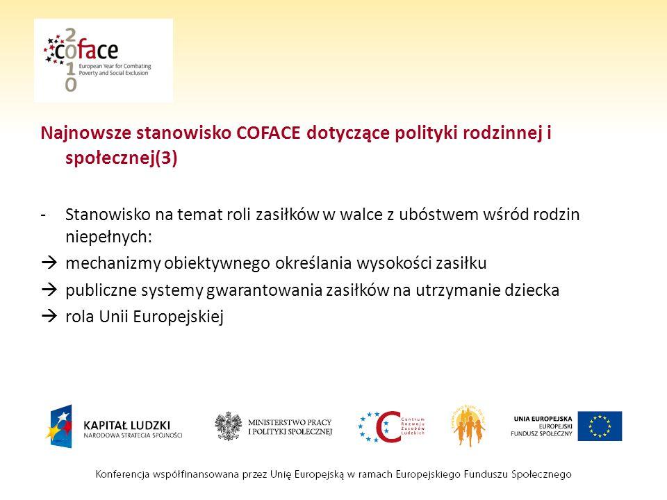 Najnowsze stanowisko COFACE dotyczące polityki rodzinnej i społecznej(3)