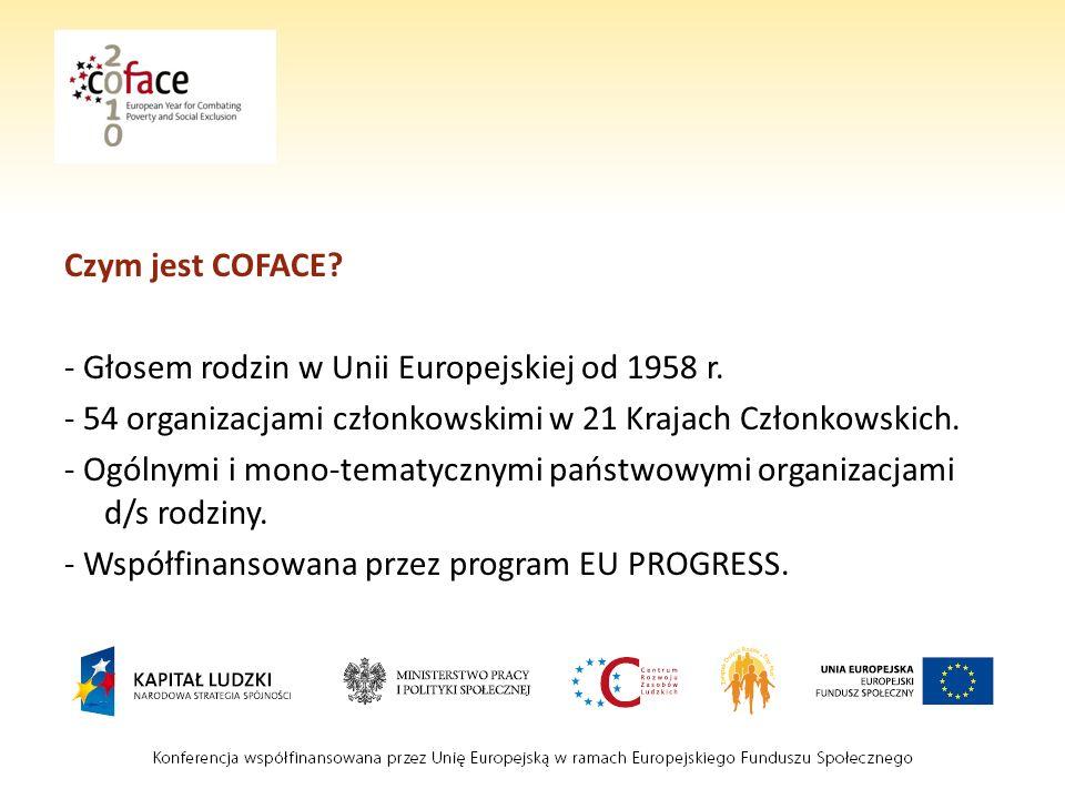 Czym jest COFACE. - Głosem rodzin w Unii Europejskiej od 1958 r