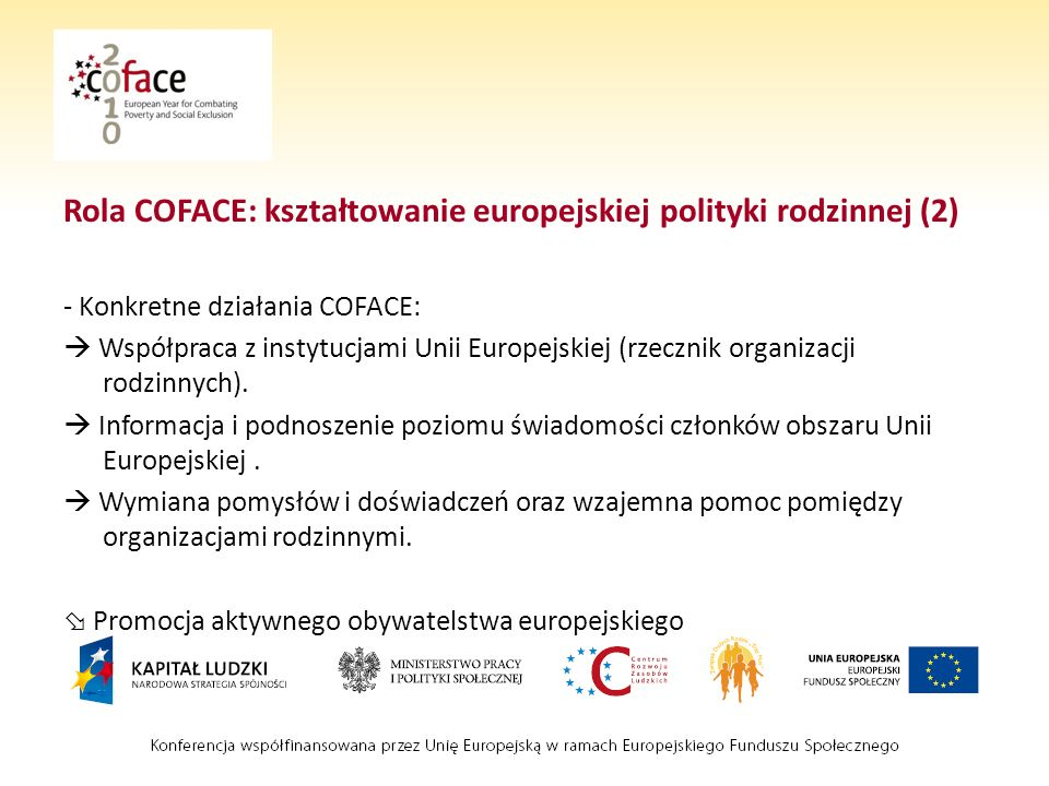 Rola COFACE: kształtowanie europejskiej polityki rodzinnej (2)