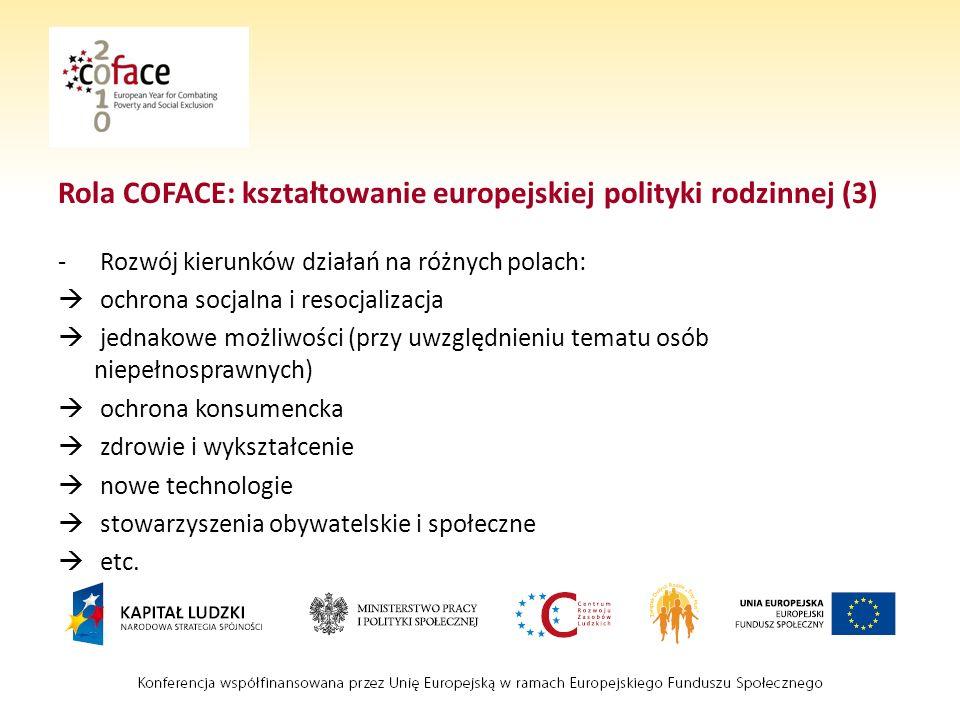 Rola COFACE: kształtowanie europejskiej polityki rodzinnej (3)