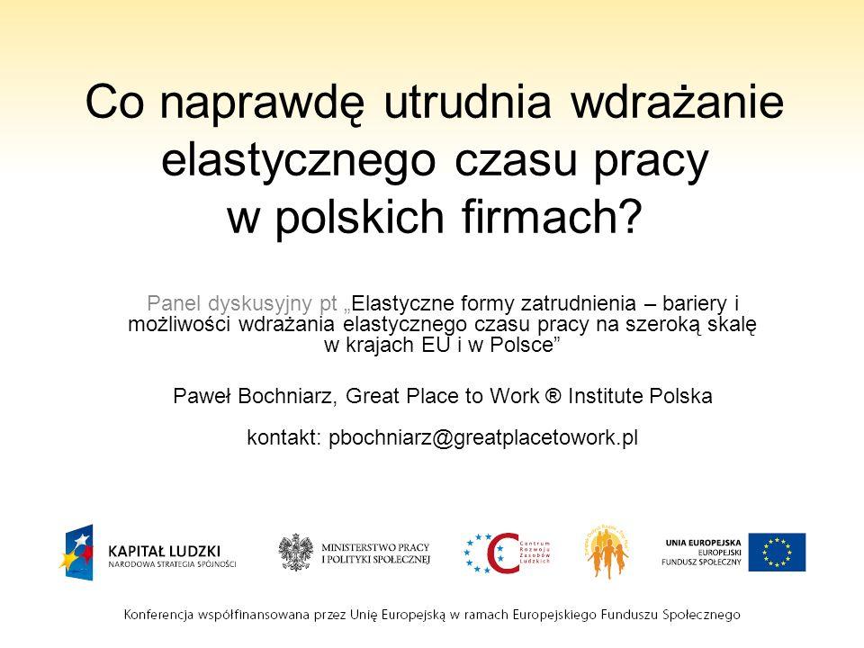 Co naprawdę utrudnia wdrażanie elastycznego czasu pracy w polskich firmach
