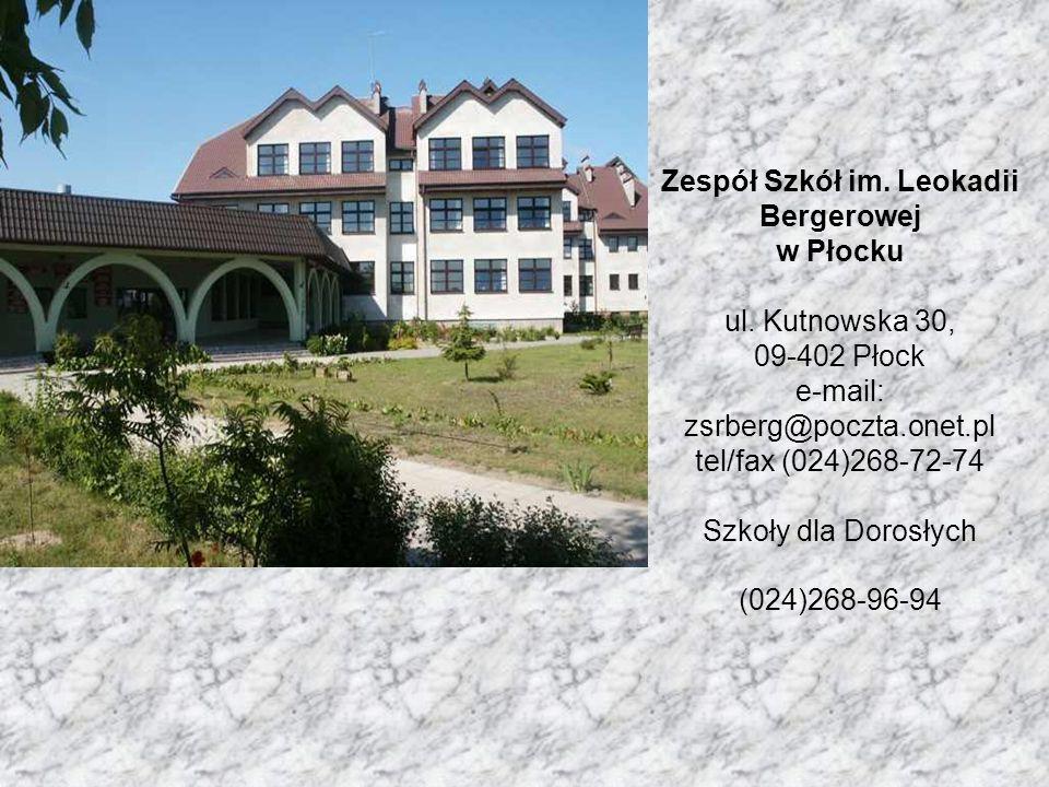 Zespół Szkół im. Leokadii Bergerowej w Płocku ul