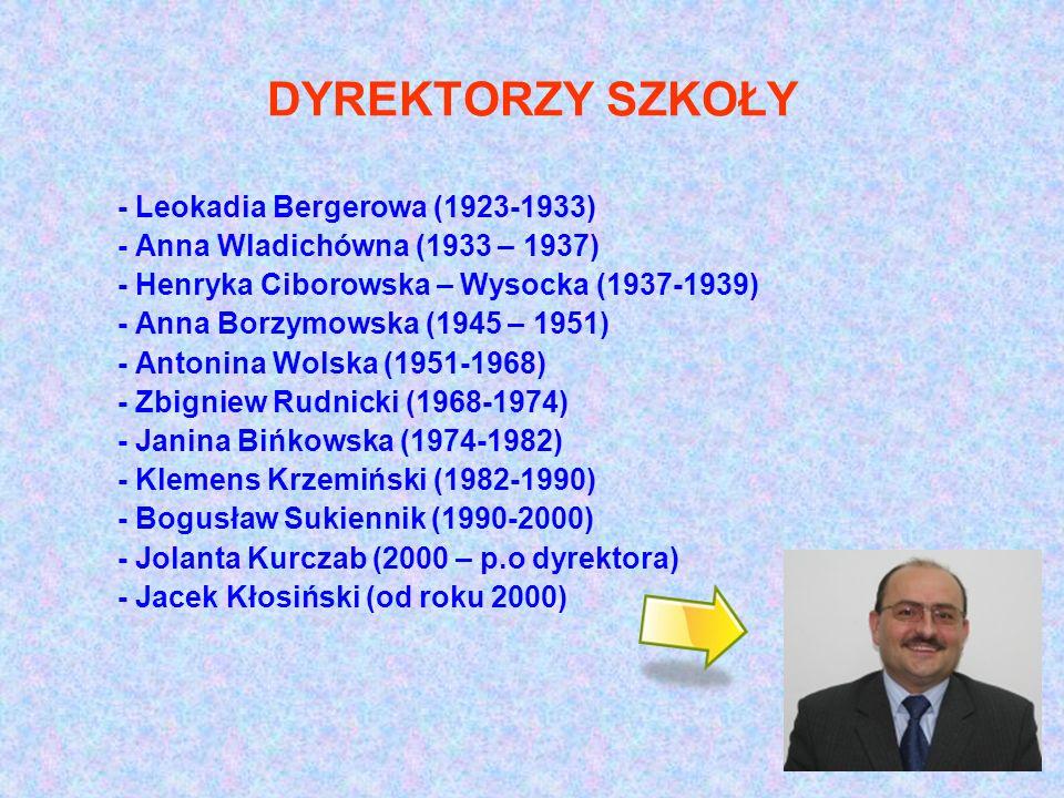 DYREKTORZY SZKOŁY - Leokadia Bergerowa (1923-1933)