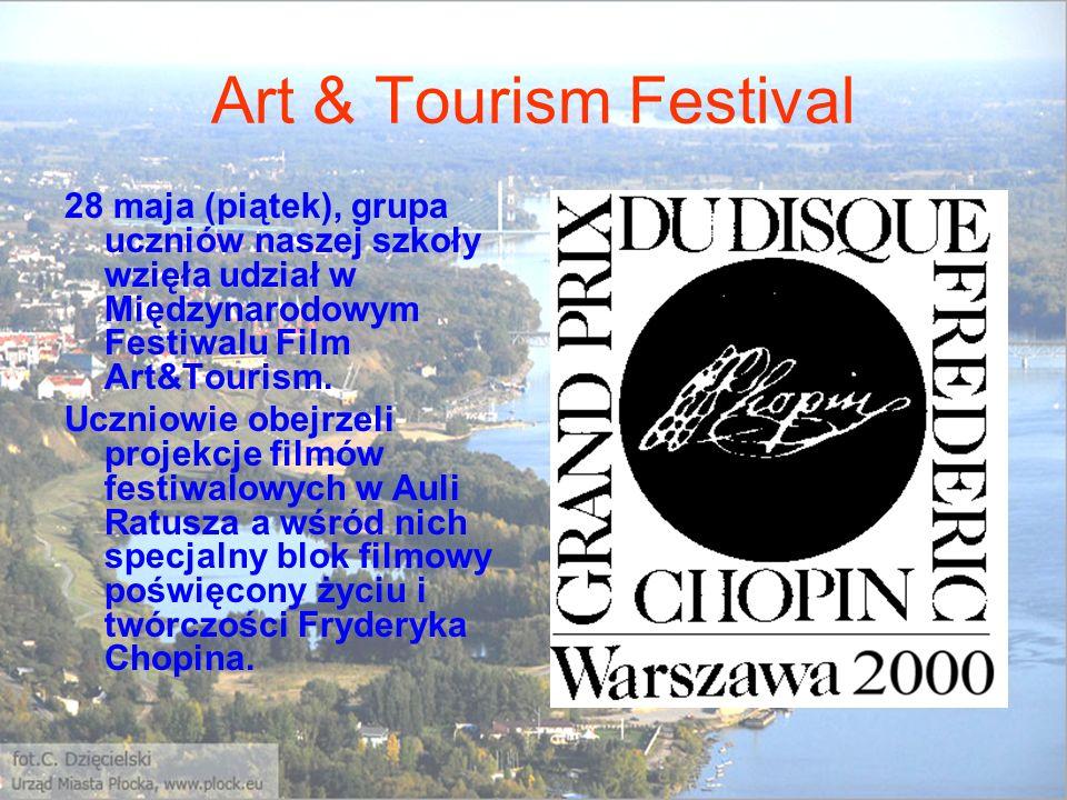 Art & Tourism Festival 28 maja (piątek), grupa uczniów naszej szkoły wzięła udział w Międzynarodowym Festiwalu Film Art&Tourism.