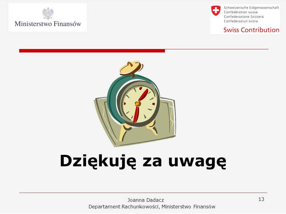 Departament Rachunkowości, Ministerstwo Finansów