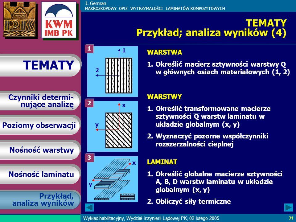 TEMATY Przykład; analiza wyników (4)