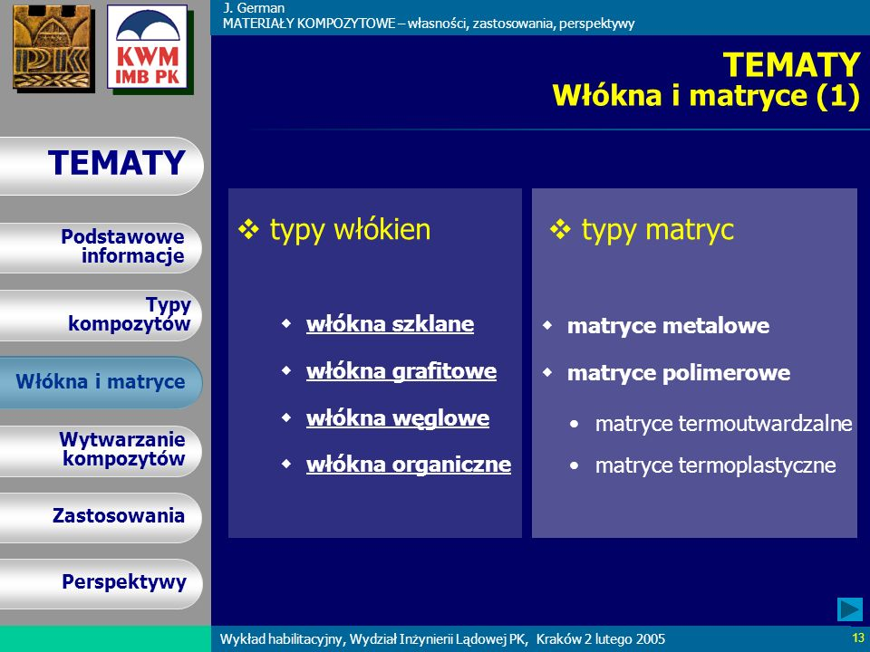 TEMATY Włókna i matryce (1)